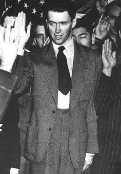 Jimmy Stewart being sworn into the Army. March 22, 1941