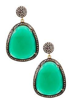 Green Onyx Classic Earrings