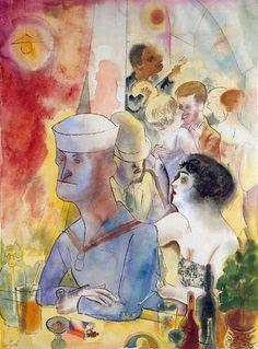 "George Grosz ""Matrose im Nachtlokal"" 1925 70 × см Max Beckmann, Art And Illustration, Jazz Paris, George Grosz, New Objectivity, Degenerate Art, Art Eras, Oil Painting Reproductions, Berlin"