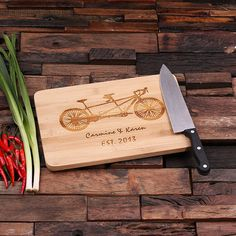 Personalized Wood Cutting Chopping Board or Cheese, Bread Tray Engraved Monogrammed Thanksgiving, Christmas Family Reunion on Etsy, $10.99