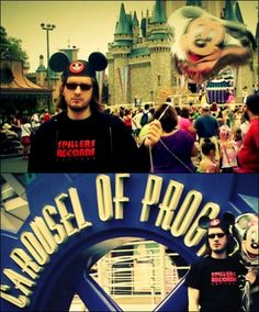 Oh, Steven Wilson enjoys Disneyland sooo much, especially the Carousel of Prog :D