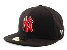 Yankees Black and Red Fitted New Era