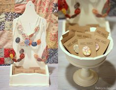 Recycled Quilt & Yoyo Jewelry by Mari Fray Foster, via Flickr