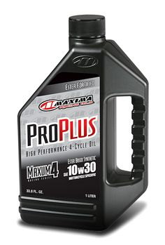 PRO PLUS+ is a 100% synthetic ester fortified 4T engine oil. Formulated to exceed JASO MA2 requirements for 4-stroke engines with integrated wet clutches. Designed to prolong clutch life and provides excellent feel. Surface active chemistry lowers engine temperatures, increases film strength and extends oil drain intervals. Balanced additive system minimizes engine deposits while protecting critical engine, transmission and clutch components. Exceeds all OEM specifications.