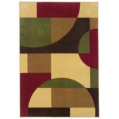 "oriental weavers of america 7'10""x10'1"" rectangular multicolor geometric area rug from lowe's"