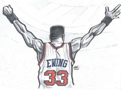 Patrick Ewing 'MSG Victory' Illustration