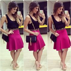 #lookofthenight #lookdanoite #ootd #selfie #blogtrendalert Casual Work Outfits, Work Casual, Casual Looks, Cool Outfits, Fashion To Figure, Day Dresses, Cute Dresses, Casual Dresses, Look Fashion