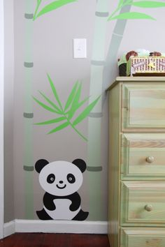 Panda Themed Baby Nursery #babyboy