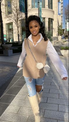 Cute Fall Outfits, Classy Outfits, Chic Outfits, Girl Outfits, Fashion Outfits, Black Girl Fashion, Mode Inspiration, Fashion Killa, Everyday Outfits