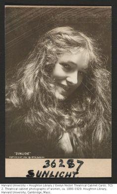 """Evelyn Nesbit """"Sunlight"""" 1901"""