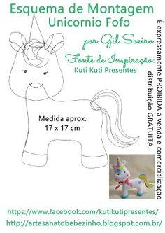 Artesanato Bebezinho Unicorn Party, Unicorn Birthday, Felt Dragon, Felt Quiet Books, Felt Baby, Felting Tutorials, Felt Patterns, Felt Toys, Doll Crafts
