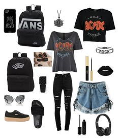 """AC⚡️DC"" by baloglora ❤ liked on Polyvore featuring WithChic, Puma, Yves Saint Laurent, Vans, Topshop, AC/DC, Spallanzani, Marc Jacobs, Casetify and Beats by Dr. Dre"