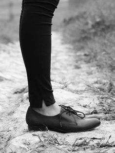 Black Leather Lace Up Shoes | Choies. These are kind of ugly. Why do I want a pair?