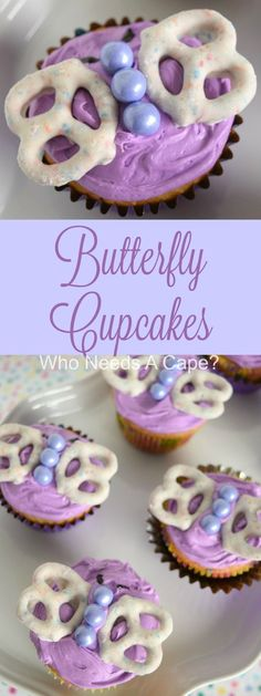 Butterfly Cupcakes are the perfect treat to celebrate spring! Super fun and cute dessert for kids birthday parties or showers.   Who Needs A Cape? [ad] #MixUpAMoment
