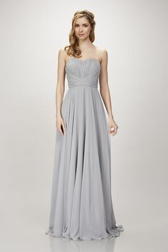 Blaire - #910104 - Strapless chiffon gown with ruched bodice