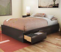 Modern-platform-bed-with-storage