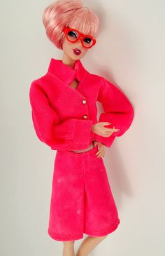 Barbie Vintage Pink Suiting and Glasses