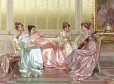 La Soiree, Vittorio Reggianini. the shine of the fabric is just marvelous