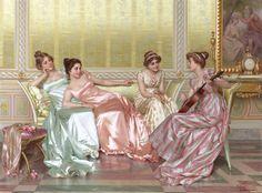 La Soiree, Vittorio Reggianini. the shine of the fabric is just marvelous