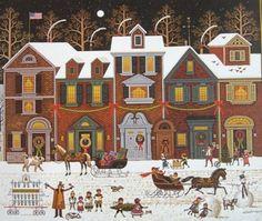 "Charles Wysocki, ""A Merry Christmas Street"""
