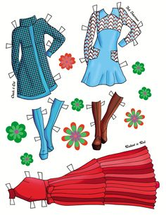 Dawn/'s Fashion Boutique Paper Doll Set with Extra Fashions