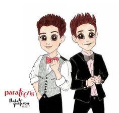 Nada de Perfectas -Ruggero Pasquareli y Michael Ronda (portada Parateens en San Valentin)