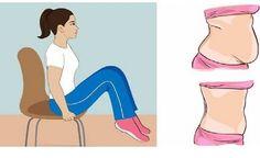 7 jednoduchých spôsobov, ako sa zbaviť tuku na bruchu pri sedení na stoličke v kancelárii, alebo doma - Mega chudnutie