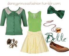Disney Princess Fashion, Request :) Belle's library dress! See here