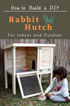 Looking for a cute, interactive pet to add to your home. What about bunnies? These creatures make great indoor pets. But before getting the rabbits, they will need a hutch to live in. To solve this problem, I've made detailed plans on how to build a DIY rabbit hutch that could be used indoor and outdoor. #diy #freeplans #projects #homedecor #interior #furniture #woodproject #doityourself #homeimprovement #outdoor #pehouse #hutch