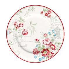 """GreenGate plate """"Camille"""" White"""