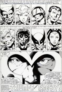 John Byrne and Terry Austin; X-Men #112 Page 29 Original Art, 1978,