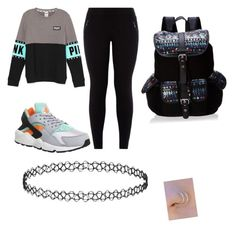 """Going to school in the cold"" by faithboge-1 on Polyvore featuring NIKE, Wild Pair, women's clothing, women's fashion, women, female, woman, misses and juniors"