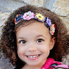Olivia  Fabric Flower Headband Features Five by BrittneyLeona, $9.95 so cute!