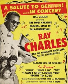 Old concert poster for Ray Charles