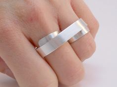 Sterling Silver Two Finger Ring by MerCurios on Etsy, $55.00