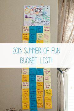 The Dine and Dish Family 2013 Summer Bucket List