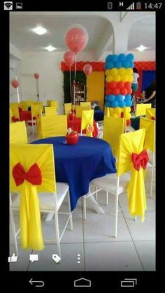 1st Birthday Parties, Birthday Party Decorations, Party Themes, Party Ideas, Princess Theme Party, Disney Princess Party, Snow White Birthday, Beauty And The Beast Party, Baby Party