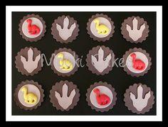Simple dinosaur cupcake toppers