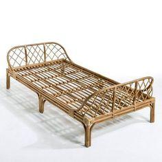 40 Modern Bed Frame Design Ideas Made Of Rattan - JustHomeIdeas Cane Furniture, Rattan Furniture, Furniture Design, Outdoor Furniture, Bed Frame Design, Bed Design, Kids Bed Frames, Bamboo Design, Diy Home Crafts
