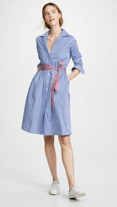 Find and compare Etre Cecile Stripe Lauren Shirt Dress across the world's largest fashion stores! Dress Outfits, Casual Dresses, Casual Outfits, World Of Fashion, Fashion Online, Fashion Stores, How To Wear Shirt, Camisa Formal, Cecile
