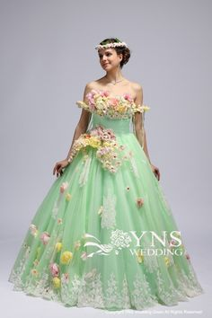 [S-JS-E224]カラードレス LaVenie Collection|ウェディングドレスのYNS WEDDING