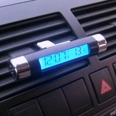 #Brand new car van #digital clock temperature #meter thermo#meter lcd blue display,  View more on the LINK: 	http://www.zeppy.io/product/gb/2/401001322913/