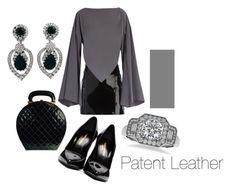 """""""Patent Leather Bag and Shoes"""" by michelle858 ❤ liked on Polyvore featuring Yves Saint Laurent, Chanel, Manokhi, Balenciaga, Ciner, Allurez and patentleather"""