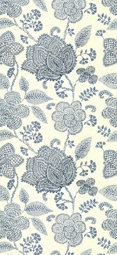 Modern paisley floral print in blue and cream Motifs Textiles, Textile Prints, Textile Patterns, Flower Patterns, Color Patterns, Print Patterns, Fabric Wallpaper, Pattern Wallpaper, Surface Pattern Design