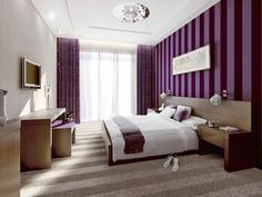 purple bedrooms can be very glamorous gorgeous seductive and sophisticated here are 10 gorgeous purple bedrooms where you can draw inspiration from - Purple Hotel Decor