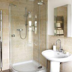 Opt for a corner shower enclosure