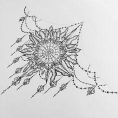 Olivia Fayne Sternum Tattoo Design #sternumtattoo #sternum #manda #mandalatattoo #suntattoo