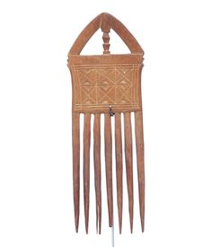 Nicely Carved Wooden Akan Comb #1479 | Combs | Artifacts — Deco Art Africa - Decorative African Art - Ethnic Tribal Art - Art Deco
