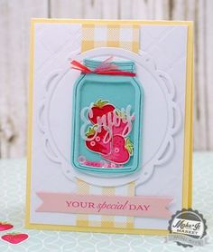 Enjoy Your Special Day Shaker Card by Betsy Veldman for Papertrey Ink (June 2015)