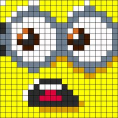 Perler Minion Pattern | ... Patterns - Pony Bead Patterns for Kandi Cuffs | Perler Bead Patterns